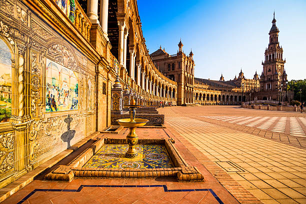 Spanish plaza (plaza de españa en Sevilla). - foto de stock