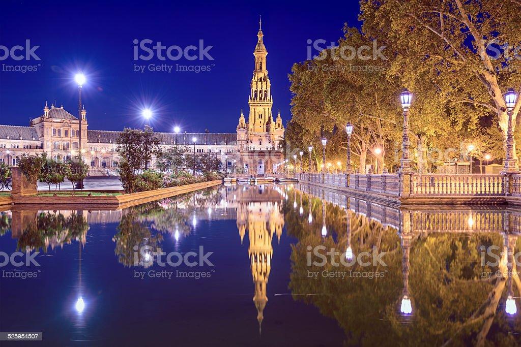 Spanish Square of Seville, Spain stock photo