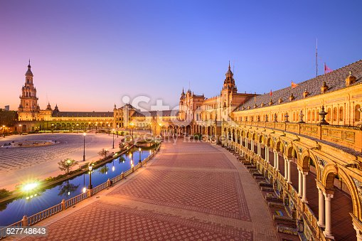 istock Spanish Square of Seville, Spain 527748643