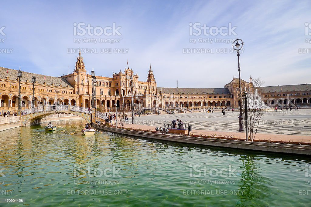 Spanish Square - Sevilla stock photo