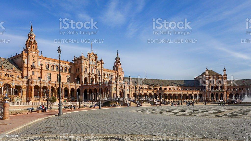 Spanish Square - Seville stock photo