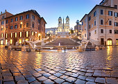 istock Spanish Steps and a fountain on Piazza di Spagna in Rome, Italy 857103026