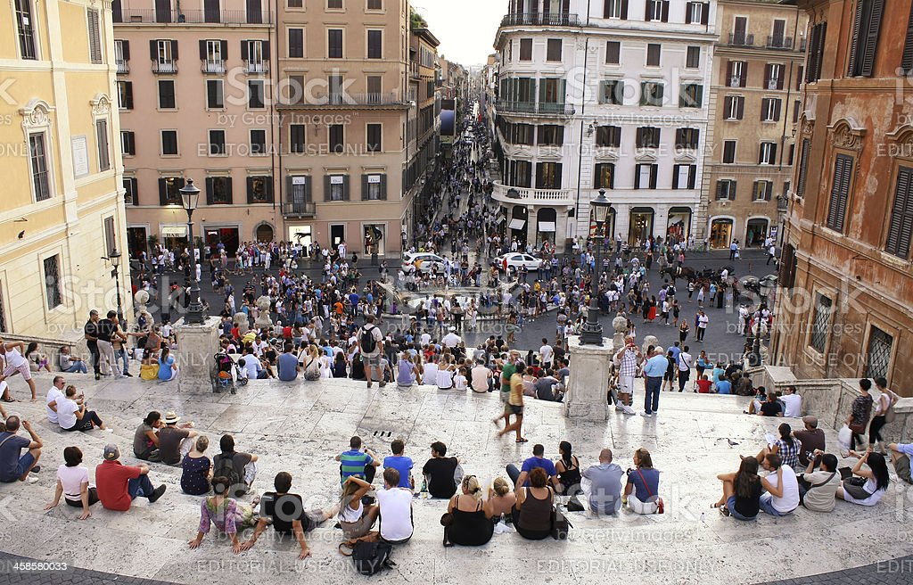 Spanish Steps and Piazza di Spagna in Rome, Italy stock photo
