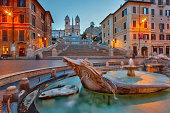 istock Spanish Steps at dusk, Rome 477866125