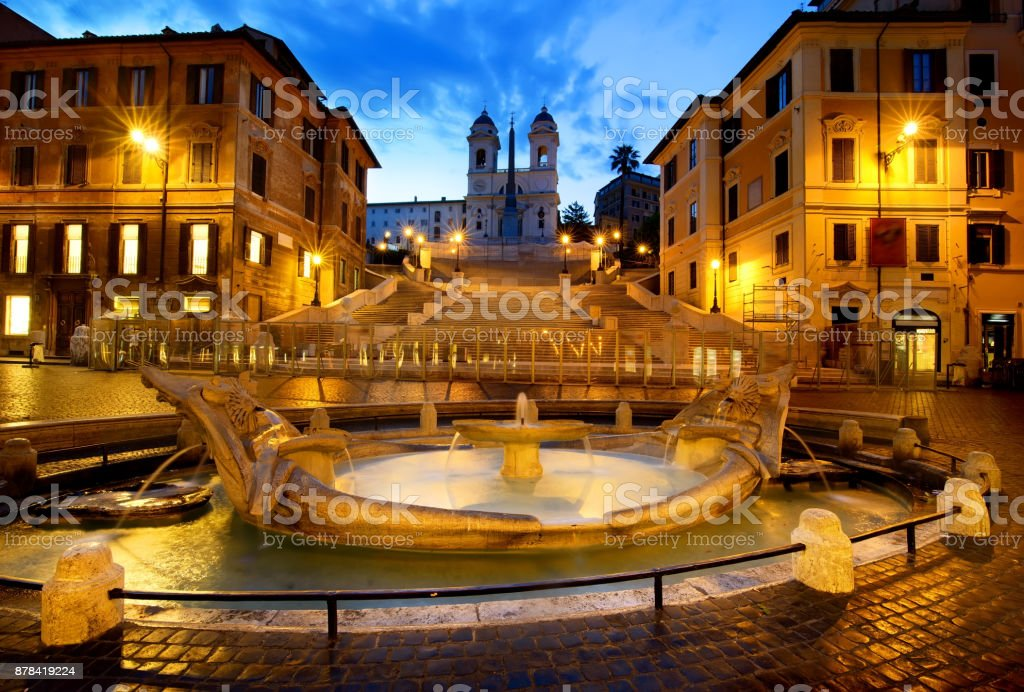Spanish Steps at early morning stock photo