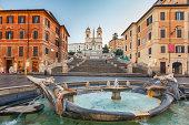 istock Spanish Steps at morning, Rome 162706697