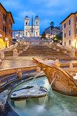 istock Spanish Steps at Trinità dei Monti at dawn, Rome 643129458