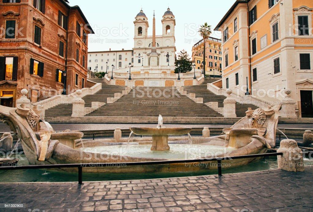 Spanish Steps in Rome, Italy nobody stock photo