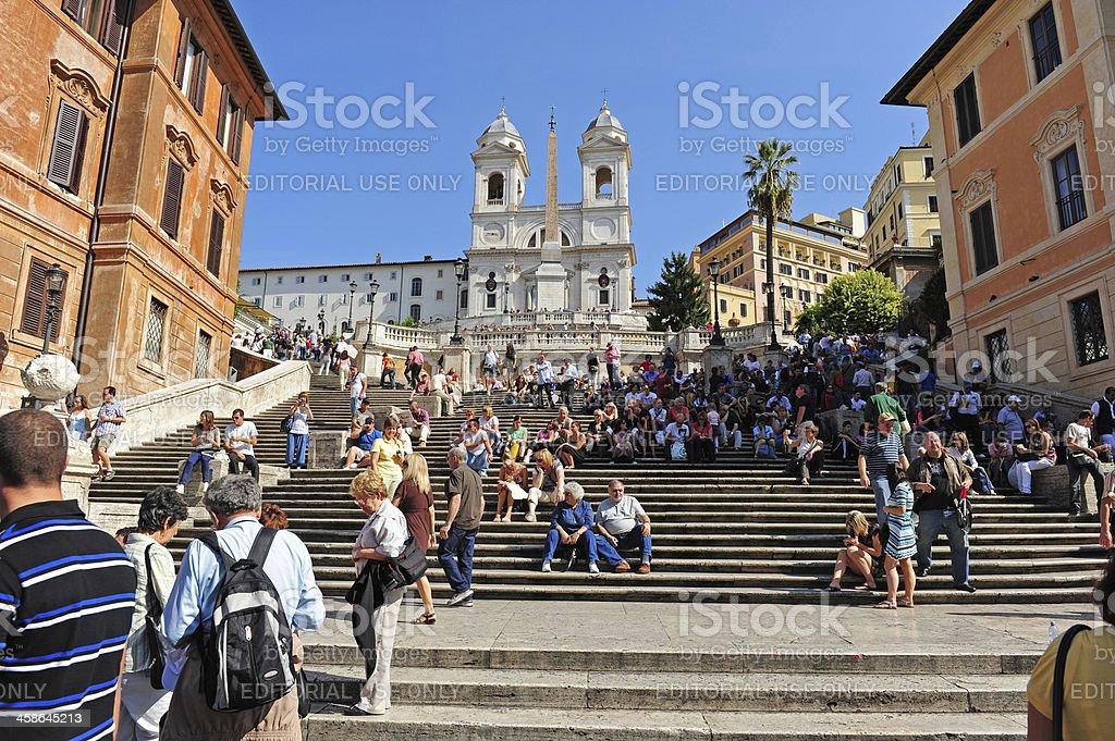 Spanish steps in Rome stock photo