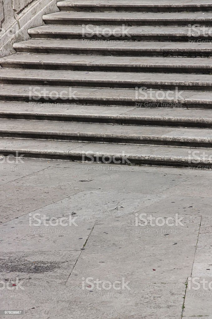 Spanish Steps - partview royalty-free stock photo