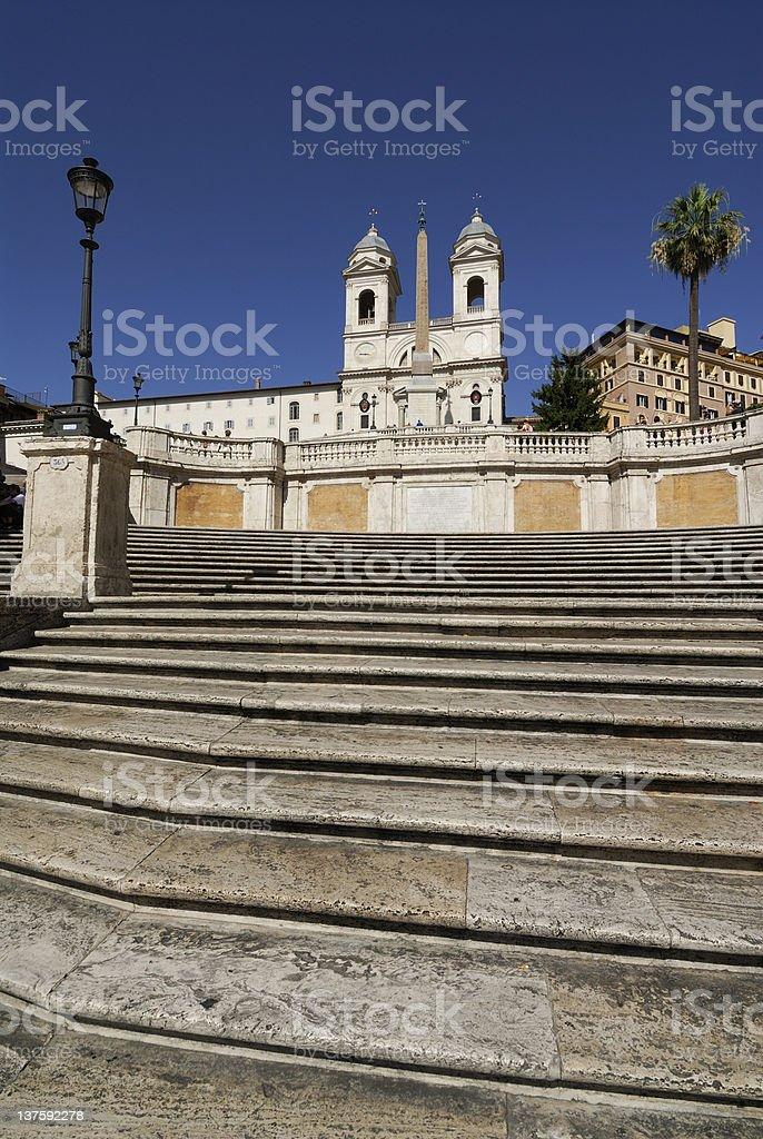 spanish steps stock photo