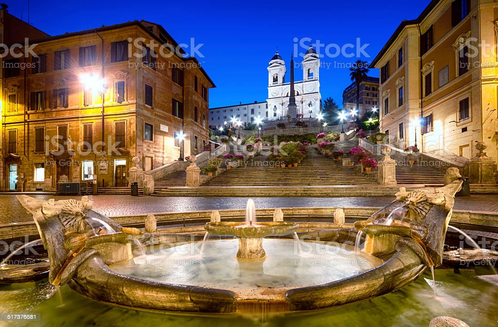 Spanish Steps, Rome - Italy stock photo