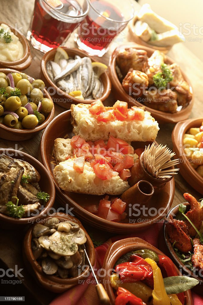 Spanish Stills: Tapas - Variety royalty-free stock photo
