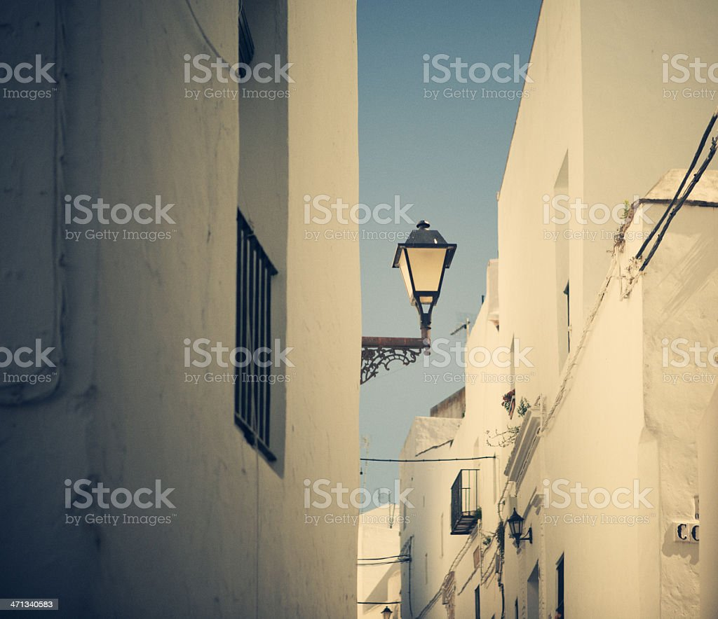 spanish street light royalty-free stock photo