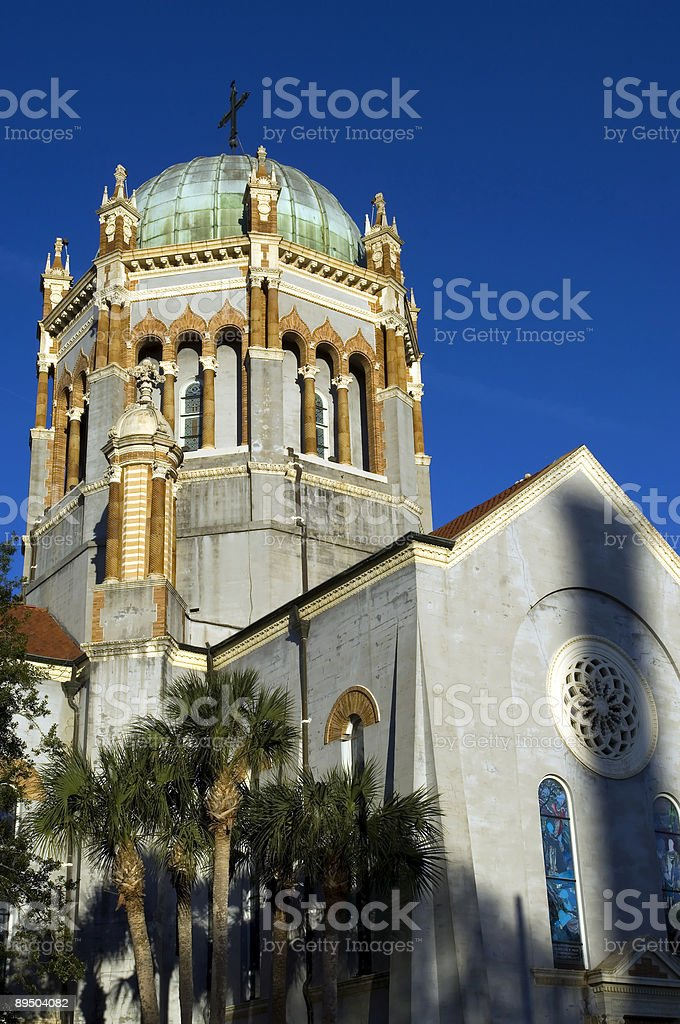 Spanish style church royalty-free stock photo