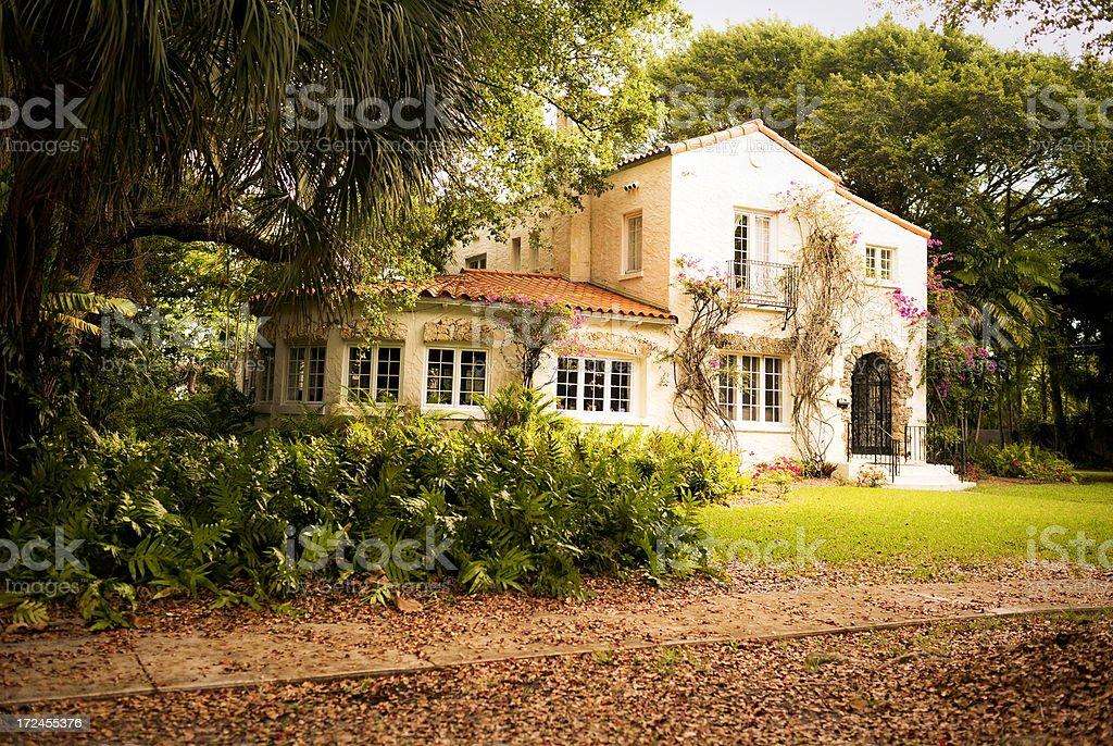 Spanish style house in Florida stock photo