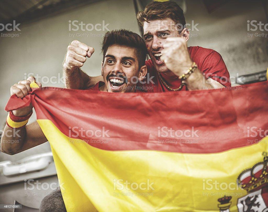 Spagnolo tifosi sul Stadio - foto stock