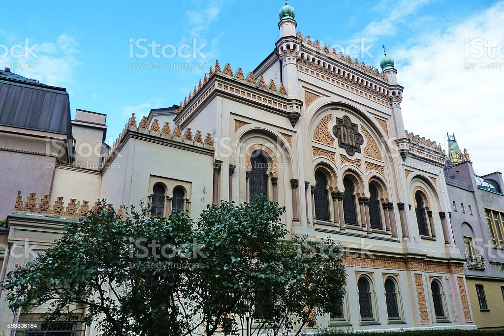 Spanish Synagogue in Prague, Czech Republic stock photo