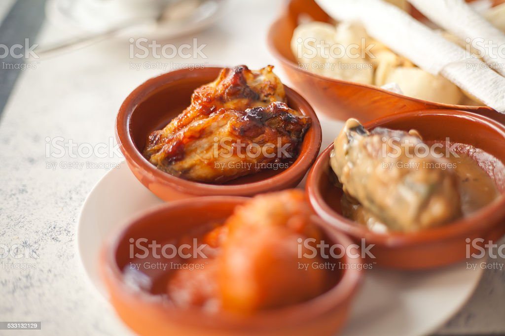 Spanish tapas stock photo