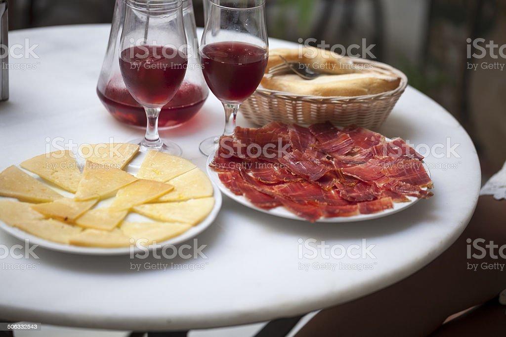 Spanish Tapas with Sangria stock photo