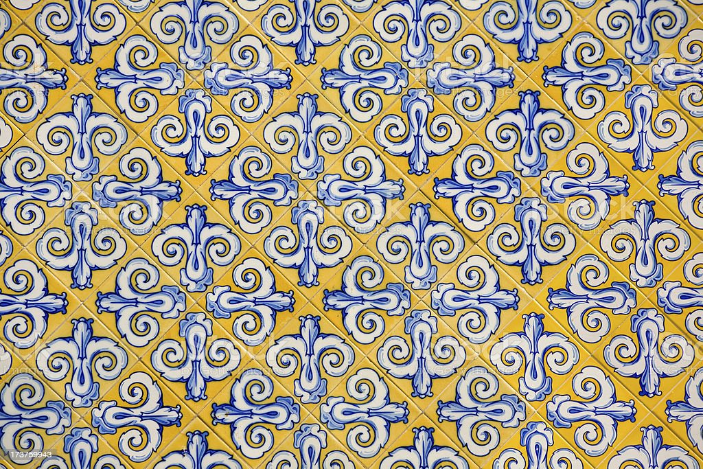 Spanish tiles stock photo