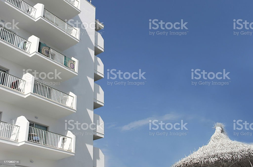 Spanish tourist hotel royalty-free stock photo