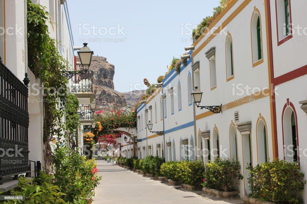 Spanish touristic city stock photo