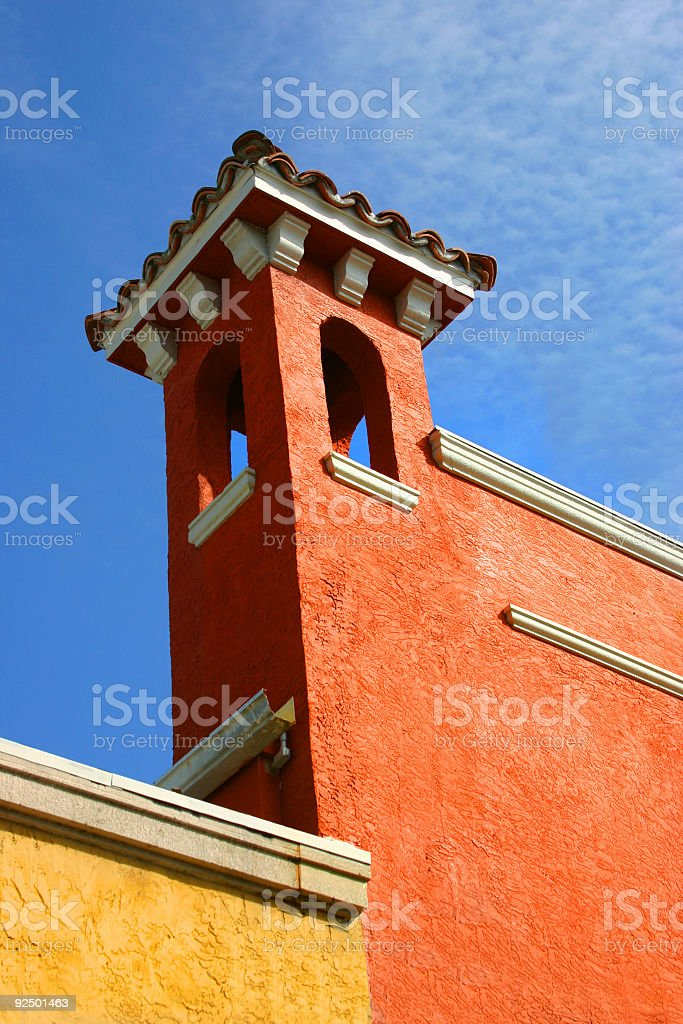 Spanish Tower, Blue Sky royalty-free stock photo