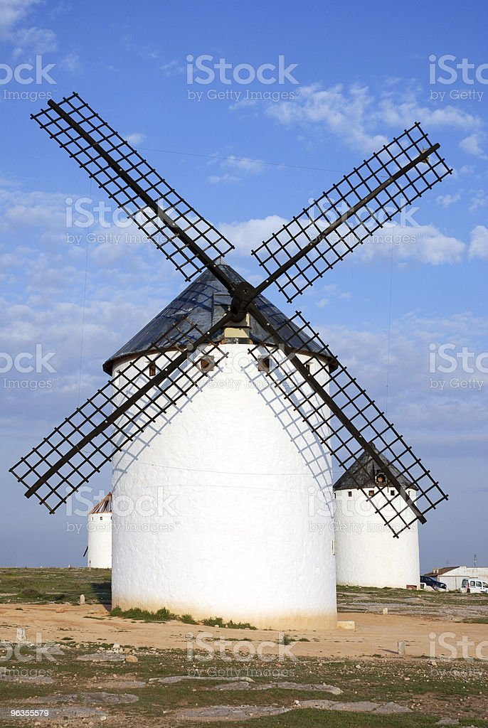 spanish traditional windmill royalty-free stock photo