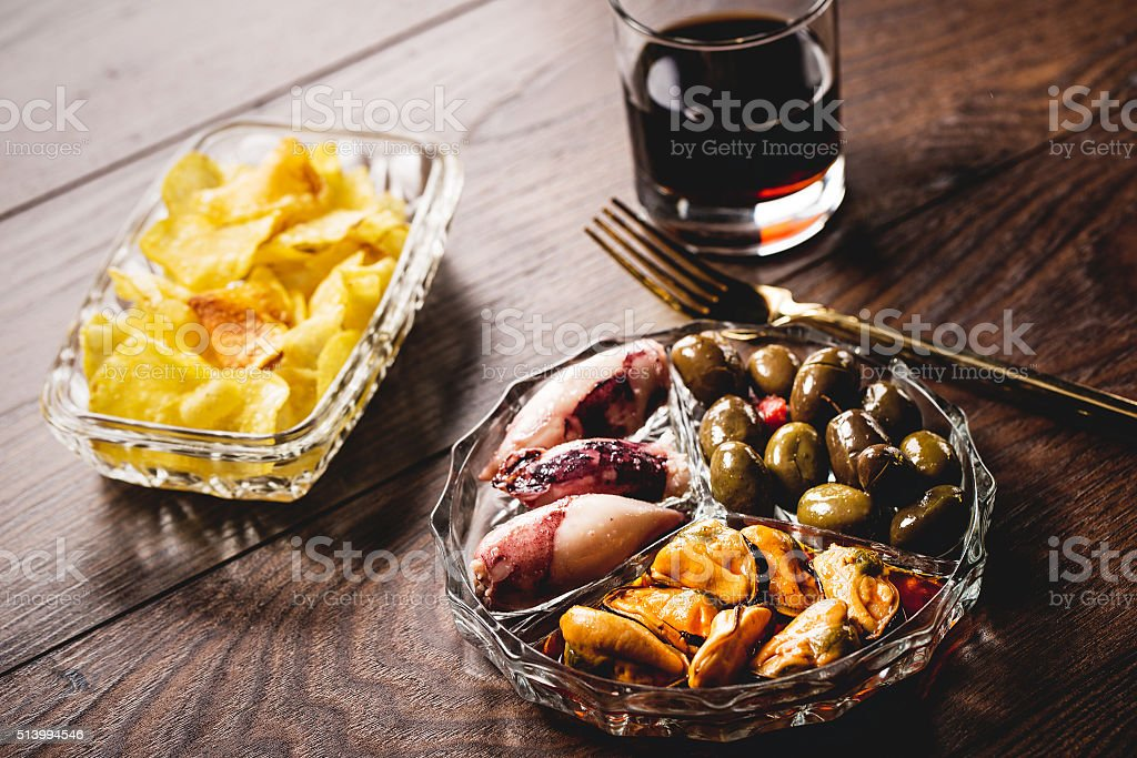 Spanish vermouth stock photo