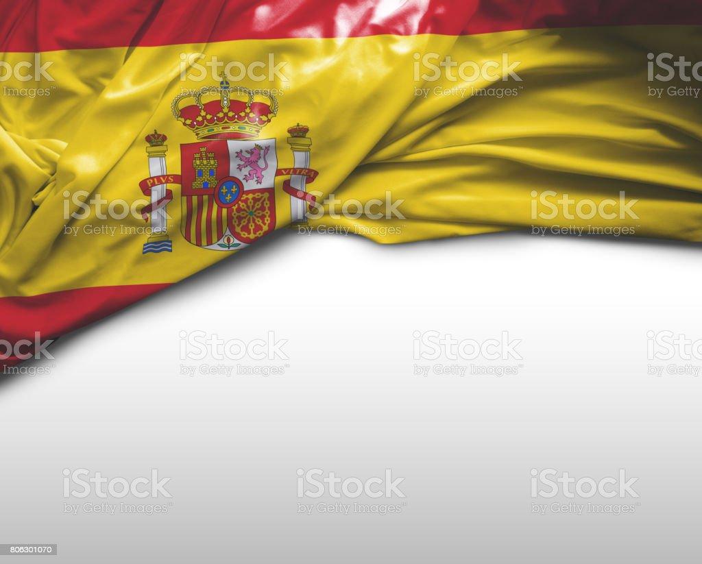 Bandeira de ondulação espanhola - foto de acervo