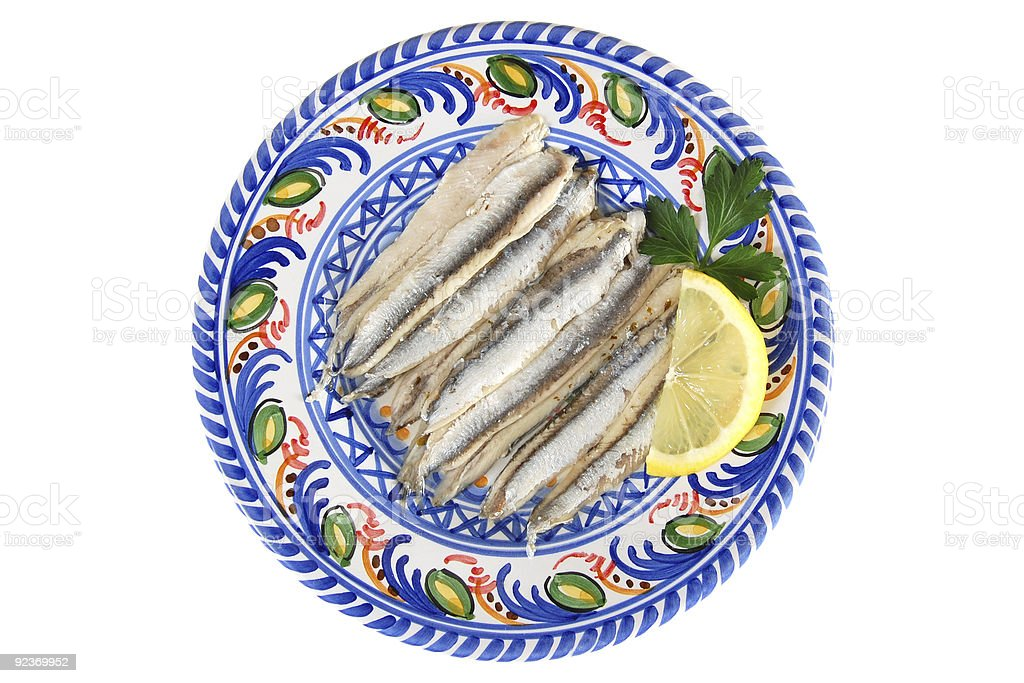 Spanish White Anchovies royalty-free stock photo