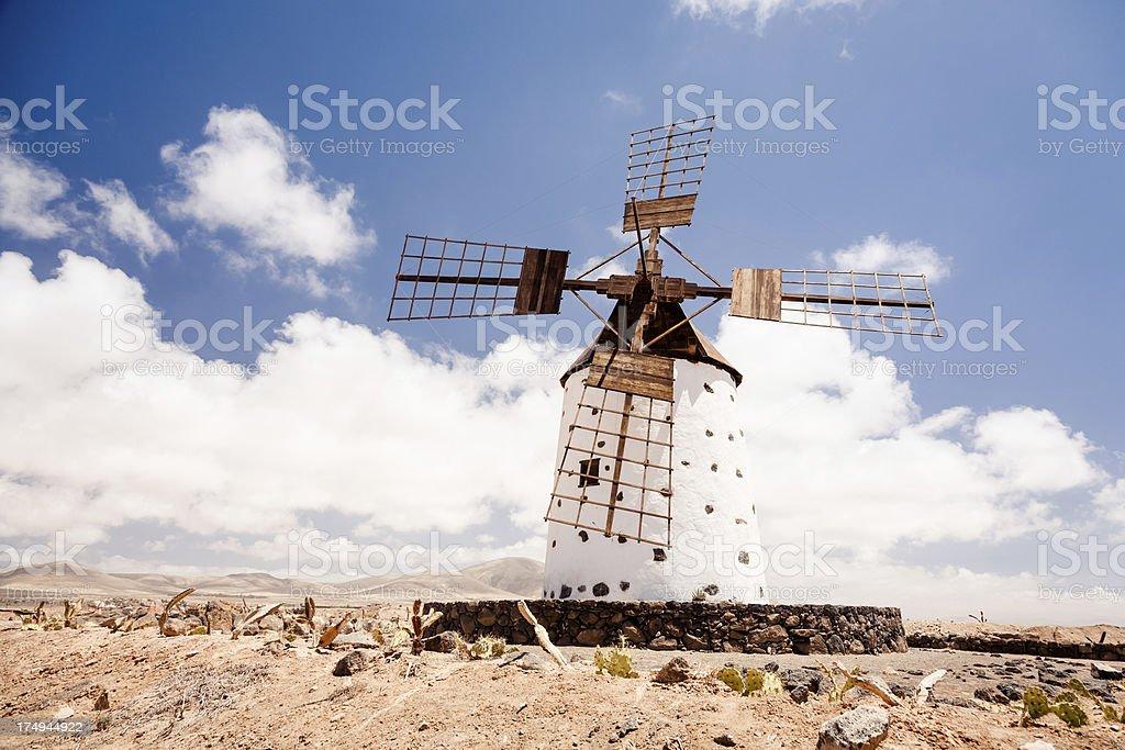 Spanish Windmill in Fuerteventura royalty-free stock photo