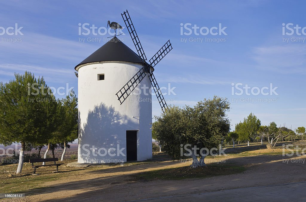 Spanish Windmill stock photo