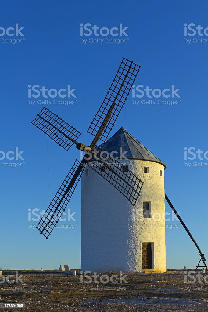 Spanish windmill royalty-free stock photo