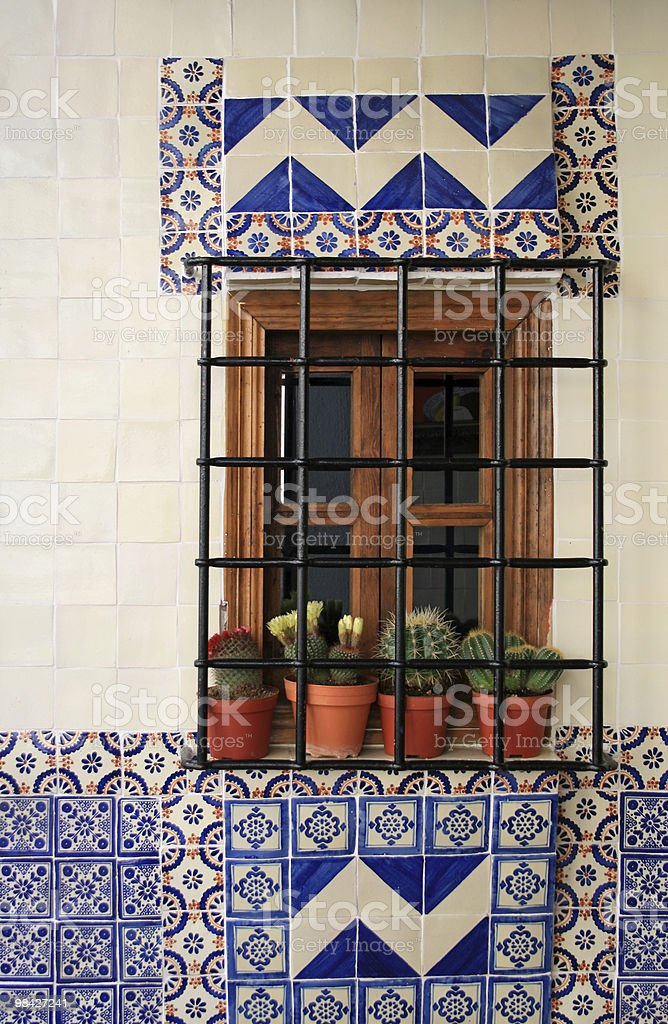 Spanish Window Still Life royalty-free stock photo