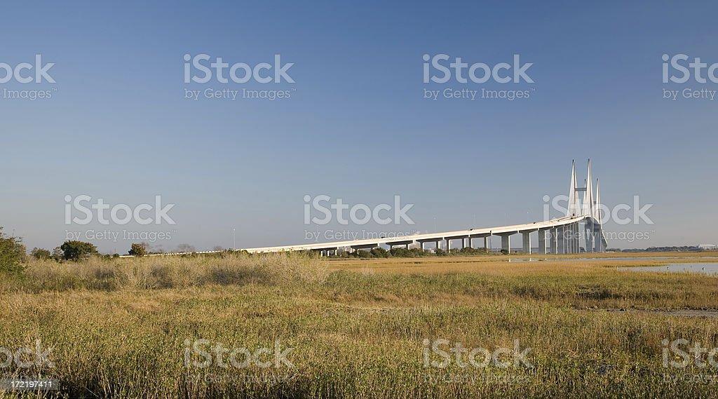Spanning bridge stock photo