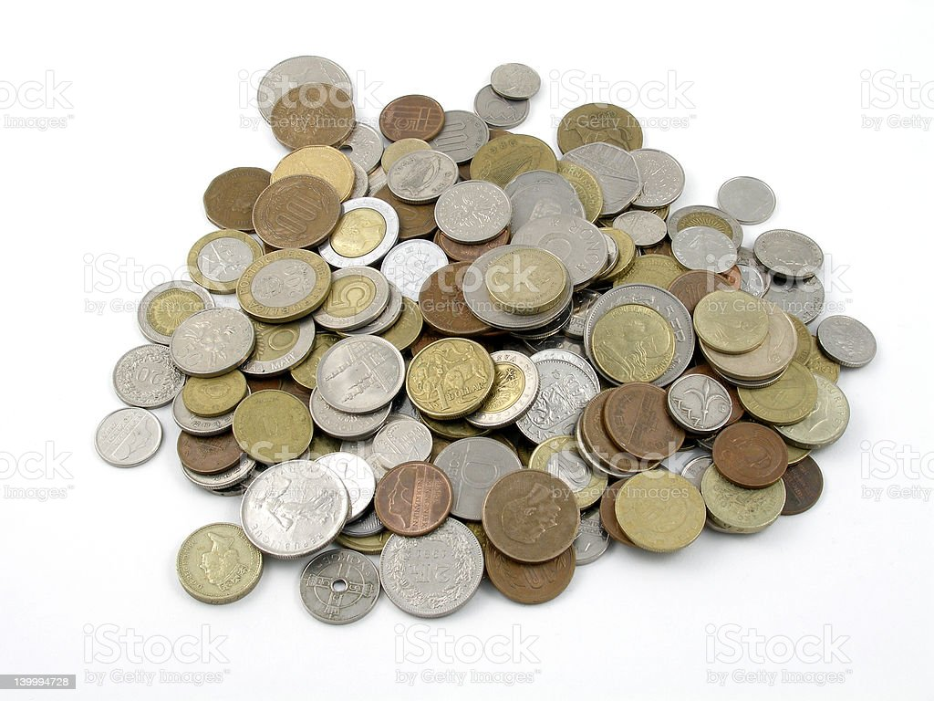 Spare change stock photo