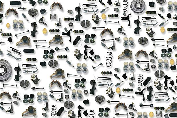 예비 부품 자동차모드 (흰색 배경 - 예비 부품 뉴스 사진 이미지