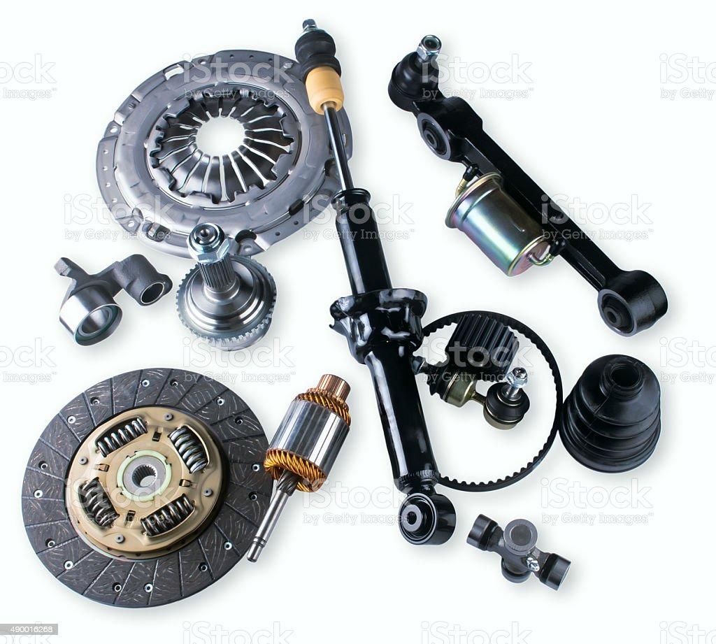 spare parts car shop auto aftermarket stock photo