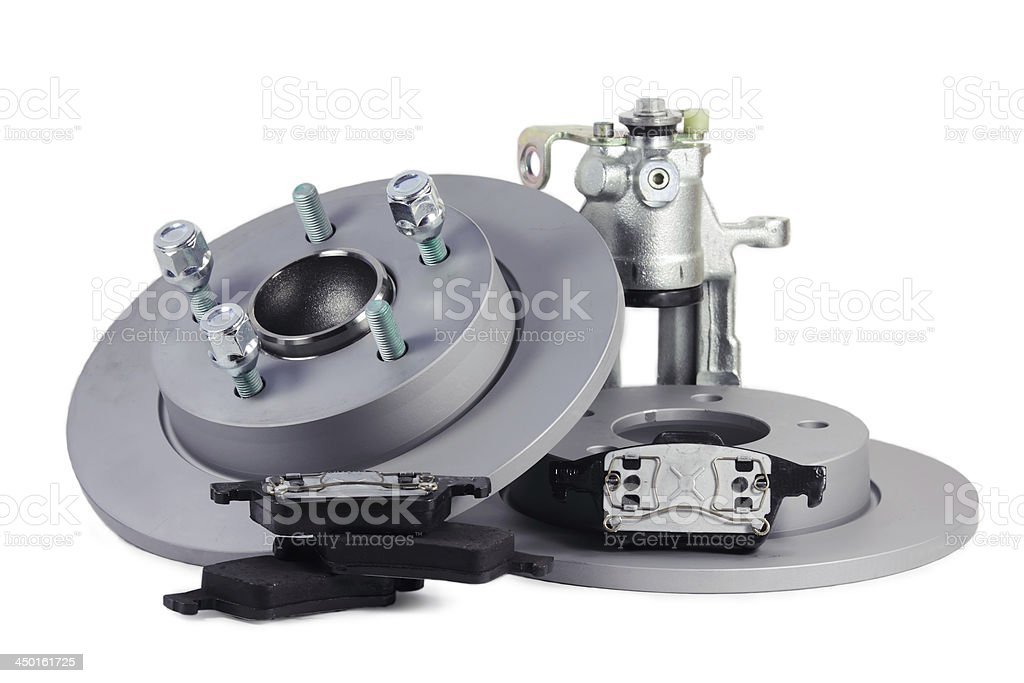 Spare parts for car. brake mechanism stock photo