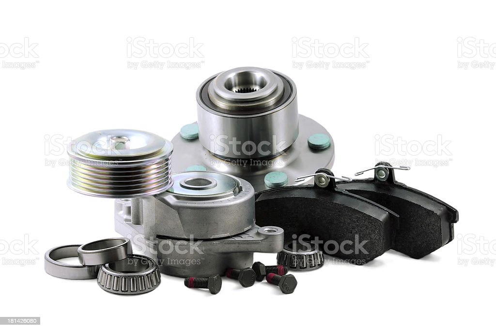 Spare parts for car stock photo