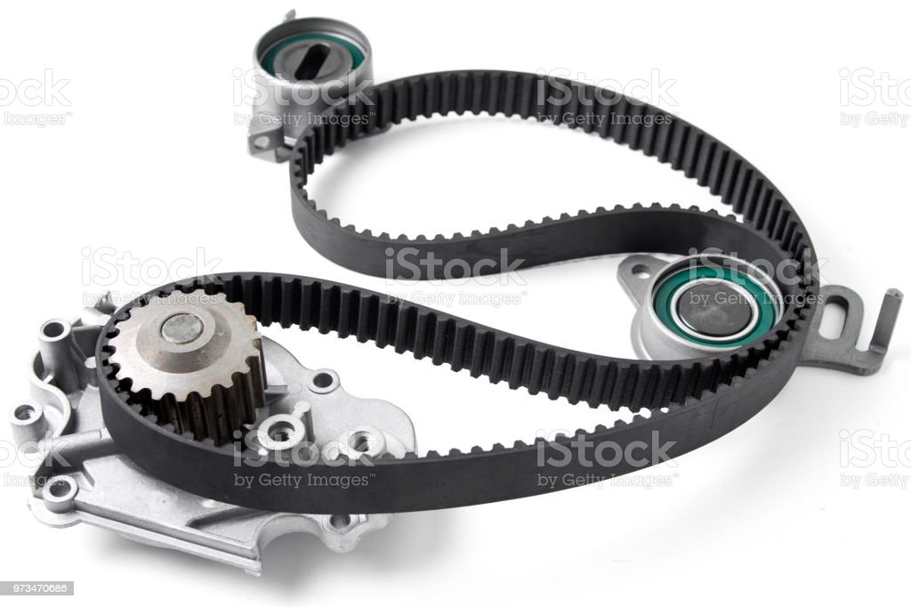 Car Timing Belt >> Spare Parts For The Car Kit Of Timing Belt With Rollers On A