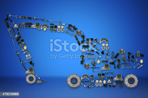 istock spare parts for truck or excavator 479245868