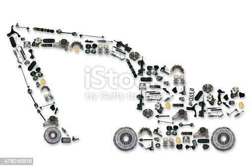 istock spare parts for truck or excavator 479245916