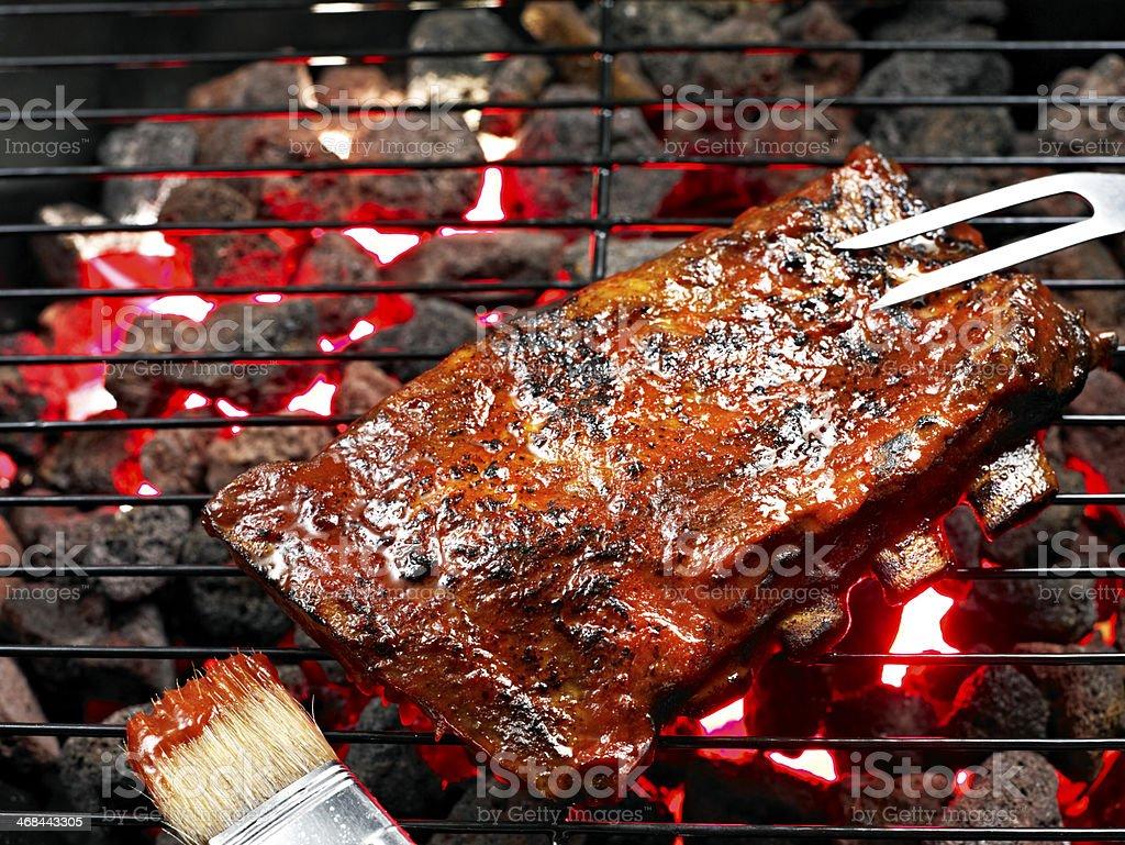 BBQ Spare Rib royalty-free stock photo