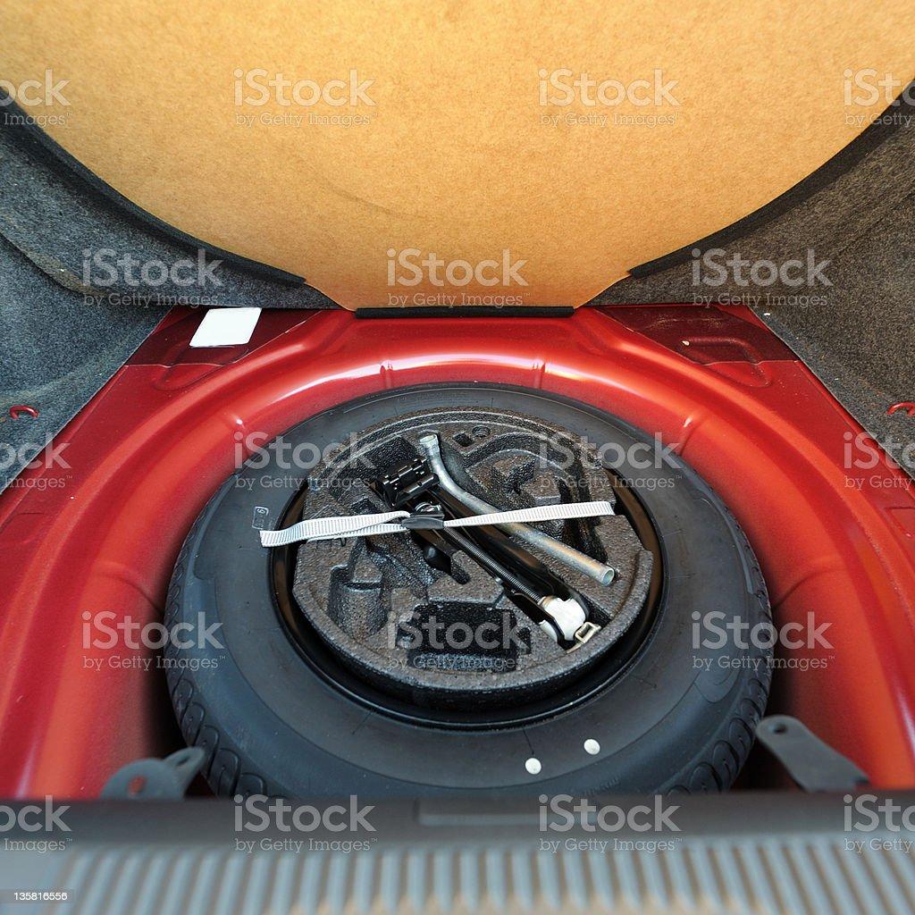 Spare tire (wheel) stock photo