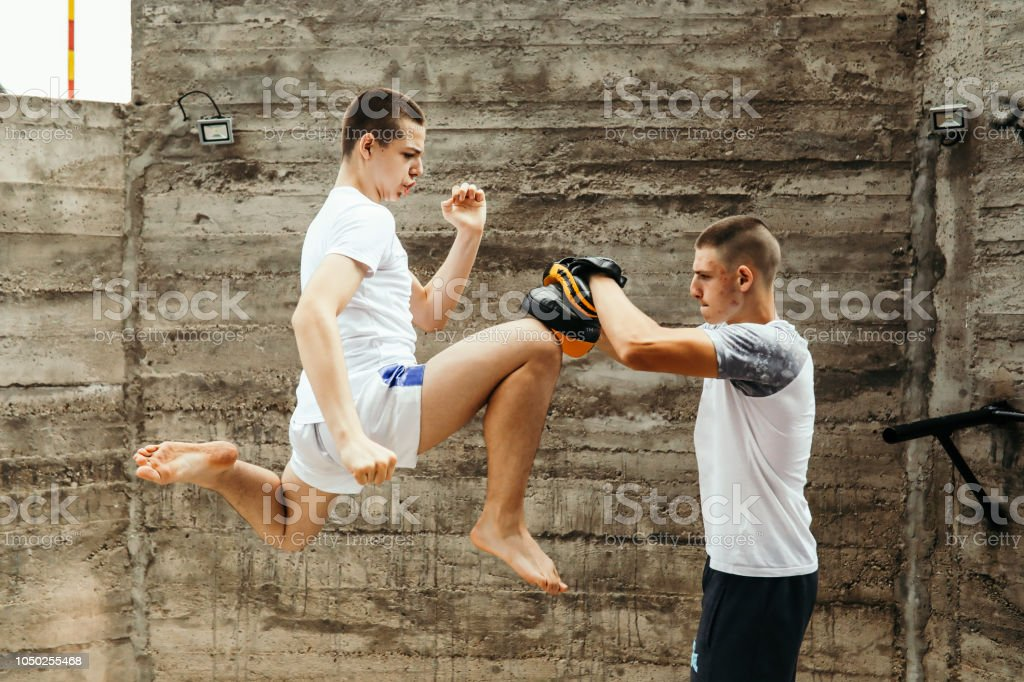 Sparing time stock photo