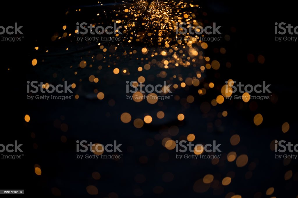 spark light paiting while cutting stock photo
