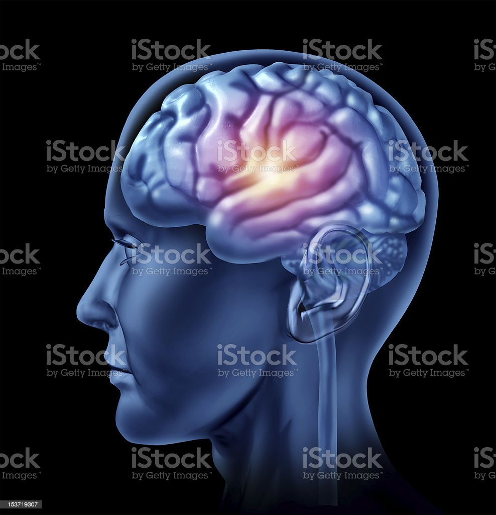 spark of genius brain function royalty-free stock photo